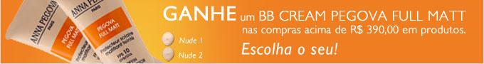 Ganhe um BB Cream Pegova nas compras acima de 390 reais em produtos.